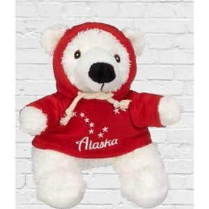 Hoodie Polar Bear Stuffed Animal (8