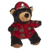 Plaid Black Bear Stuffed Animal (8